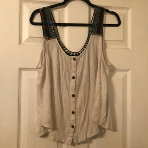 Cute Embroidered Tank